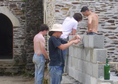 Finition du mur de parpaings